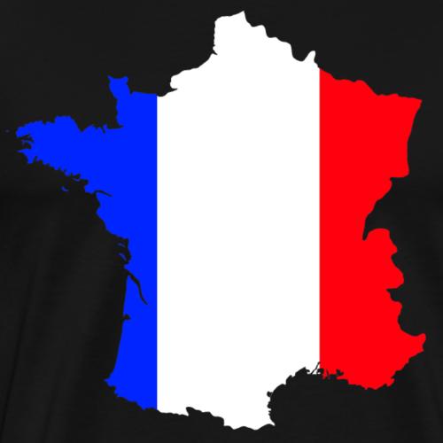 France Double Exposure - Men's Premium T-Shirt