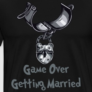 Game Over Getting Married - Herre premium T-shirt