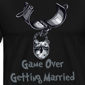 Game Over Getting Married - Premium-T-shirt herr