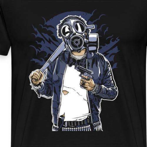 Gasmask Bastard - Männer Premium T-Shirt