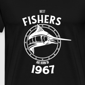 Present for fishers born in 1967 - Männer Premium T-Shirt