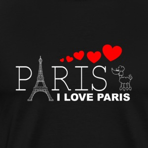 I LOVE PARIS 2WR - Premium T-skjorte for menn