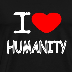 I LOVE HUMANITY - Men's Premium T-Shirt