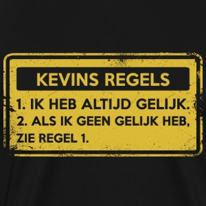 Kevin's rules. Original gift. - Men's Premium T-Shirt