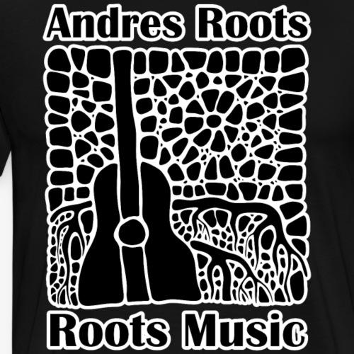 'Roots Music' album cover T-shirt, black & white - Men's Premium T-Shirt