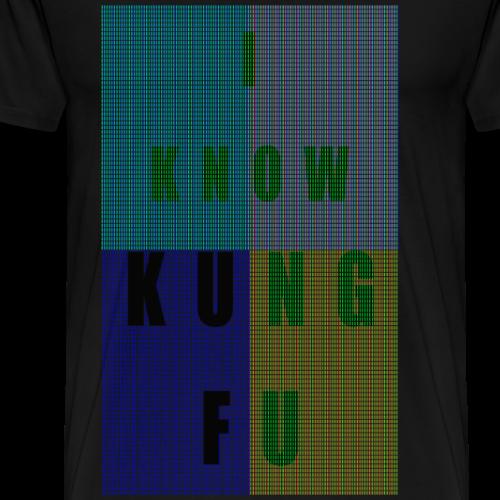 PIXELS I KNOW KUNG FU - Men's Premium T-Shirt