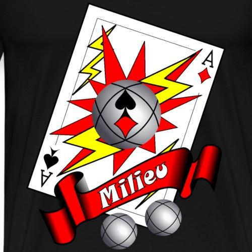 t shirt petanque milieu as des pointeurs as du tir - T-shirt Premium Homme