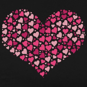 Big heart shape made of many small hearts - Men's Premium T-Shirt