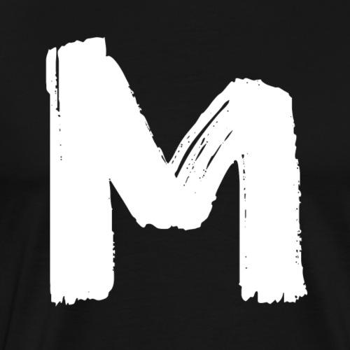Modern Magazine White M Logo - Men's Premium T-Shirt