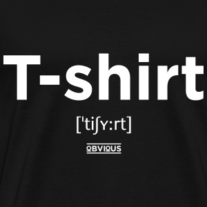 Obvious / T-shirt Wit - Mannen Premium T-shirt