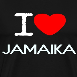 I LOVE JAMAICA - Premium T-skjorte for menn