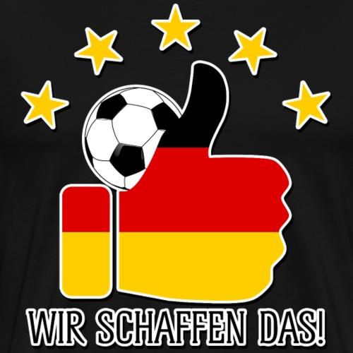 Fussball 5 Sterne Wir Schaffen Das 2 - Männer Premium T-Shirt