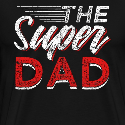 The Super Dad Superhero Fathers Day - Männer Premium T-Shirt