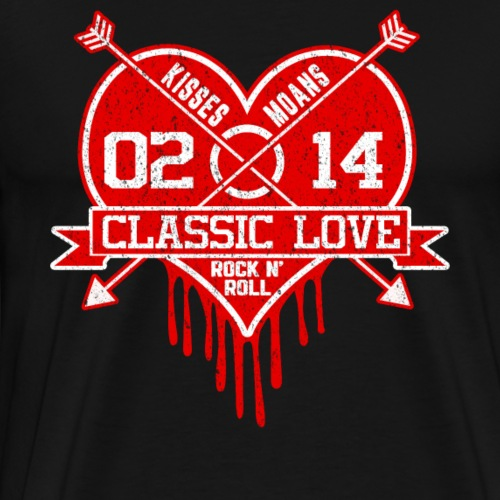 Classic Love Geschenkidee für Valentinstag - Männer Premium T-Shirt