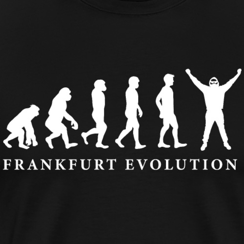 Frankfurt Evolution Hessen Fan Geschenk lustig ffm - Männer Premium T-Shirt