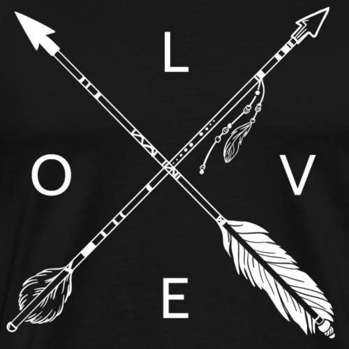 LOVE Indianer Pfeile - Männer Premium T-Shirt
