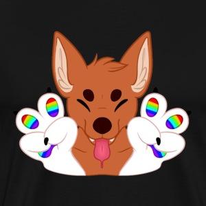 Magic's Gay Peace Fingers - Men's Premium T-Shirt