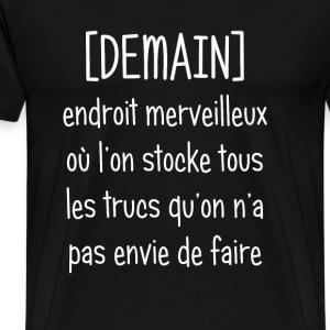 Demain (écriture blanche) - T-shirt Premium Homme