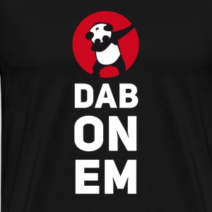 dab on em dabbing panda football touchdown mooving - Männer Premium T-Shirt