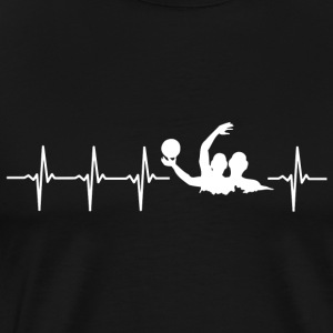 I love water polo (water polo heartbeat) - Men's Premium T-Shirt
