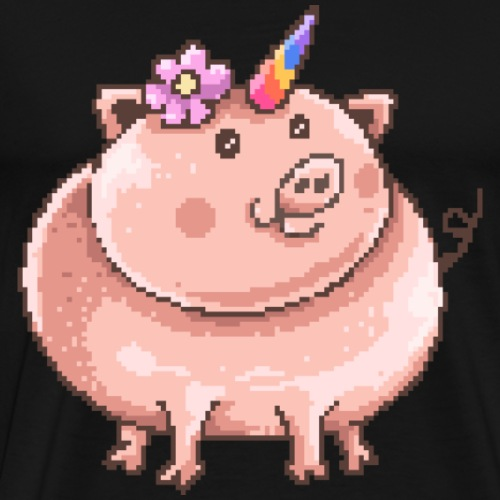 Piggy Corn Unicorn Einhorn-Shirt Unicorn - Männer Premium T-Shirt