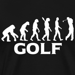 Evolution Golf Golfer Golfen wt - Men's Premium T-Shirt