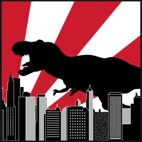 Godzilla Trex in Tokio Japan - Männer Premium T-Shirt
