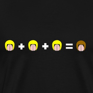 3 Blonde Brains = 1 Brunette - T-shirt Premium Homme
