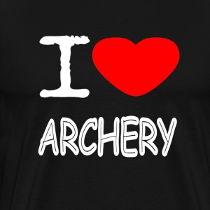 I LOVE ARCHERY - Premium T-skjorte for menn