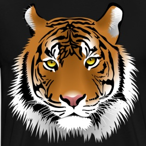 Tiger head with whiskers majestically - Men's Premium T-Shirt