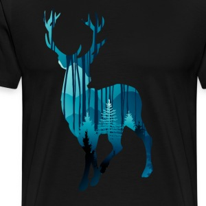 Deer in the woods in the evening - Men's Premium T-Shirt