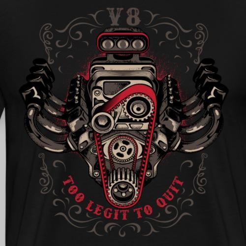 hot rod V8 - Men's Premium T-Shirt