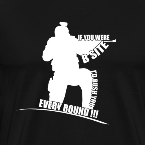 I'd rush you! White Version - Männer Premium T-Shirt