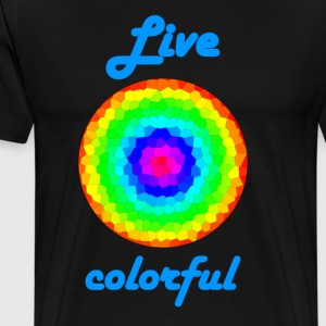 Life Colorful - Männer Premium T-Shirt