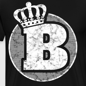 Stylish letter B with crown - Men's Premium T-Shirt