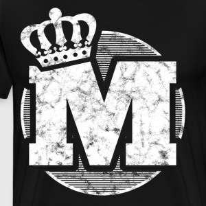 Stylish letter M with crown - Men's Premium T-Shirt