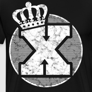 Stylish letter X with crown - Men's Premium T-Shirt