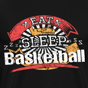 Food Sleeping Basketball - Men's Premium T-Shirt