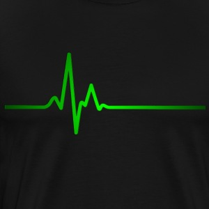 Heartbeat green - Men's Premium T-Shirt