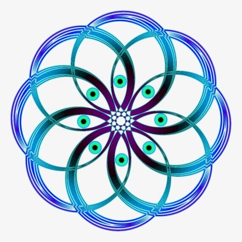 Sacred geometric spiral eyes - Men's Premium T-Shirt