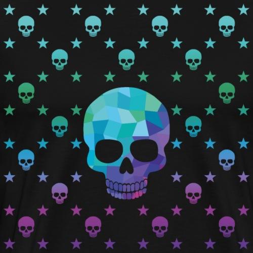 Skull Muster Color - Männer Premium T-Shirt