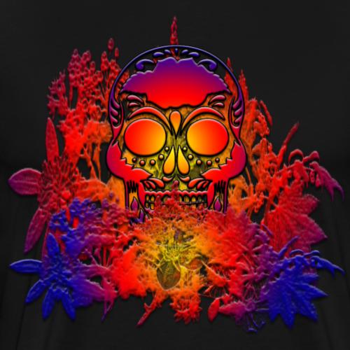 Skullflowers - Männer Premium T-Shirt