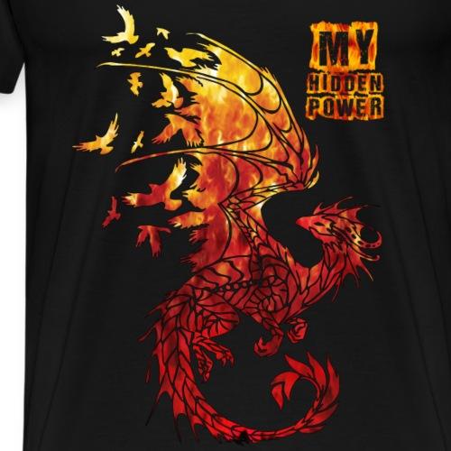 dragon my hidden power - Männer Premium T-Shirt