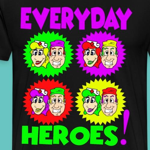 Popart Everyday Heroes - Männer Premium T-Shirt