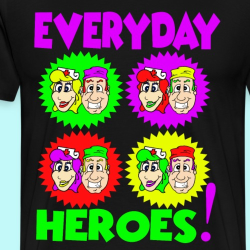 Popart Everyday Heroes - Männer Premium T-Shirt
