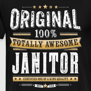 Originele 100% Awesome Janitor - Mannen Premium T-shirt