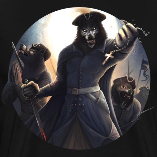 Carolean Werewolves - Design version - Premium-T-shirt herr