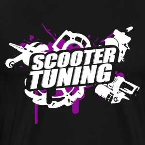 SCOOTERTUNING P / W - Premium T-skjorte for menn