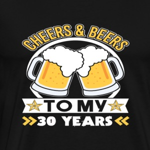 30th birthday beers - Men's Premium T-Shirt