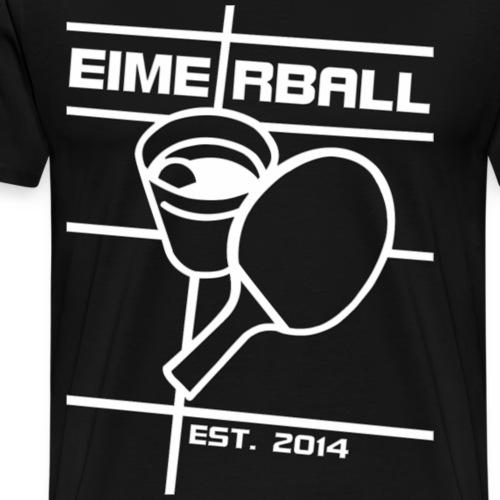 EIMERBALL Logo ALPHA weiss - Männer Premium T-Shirt
